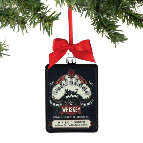 Department 56 Jack Daniel's Black Label Sour Mash Rectangle Ornament